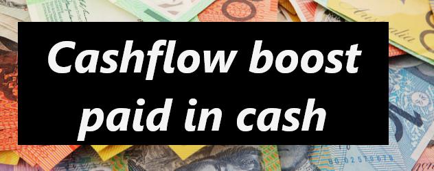 Cashflow boost - paid